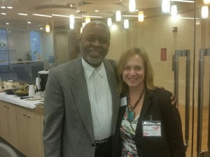 Earl Boyd with Ingrid Gorman, Director of Research and Insights for AEO